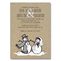 The Brides Shop Winter Wedding Invitations